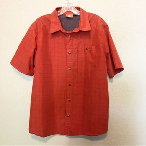 MERRELL Selectwick Orange Short Sleeve Buttondown